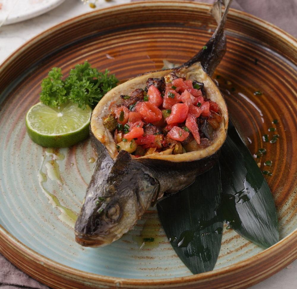 Сибас с овощным рататуем